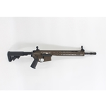 "LWRC IC-SPR 5.56NATO PATRIOT BROWN/BLACK PISTON 14.7"" PINNED/WELDED SPIRAL FLUTED BARREL"