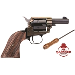 "Barkeep 22 LR 6rd 2"" Black Steel Cylinder & Barrel Simulated Case Hardened Steel Frame Custom Scroll Wood Grip BK22CH2WBRN10"